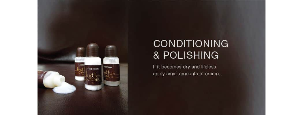 leather conditioning and polishing