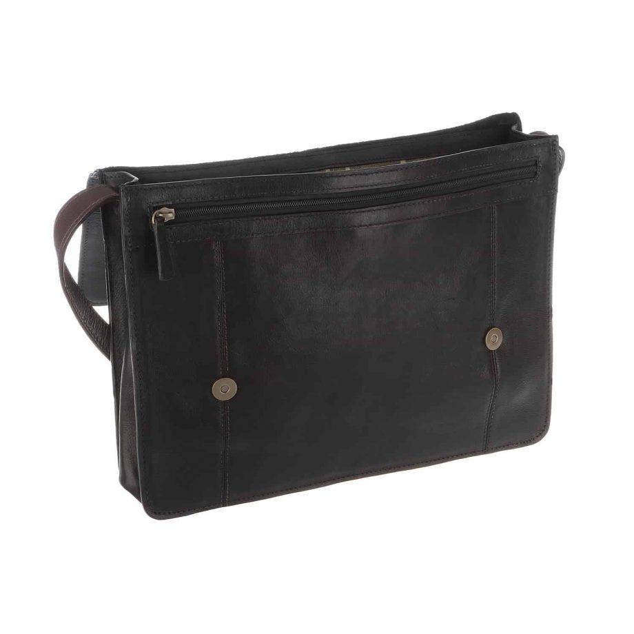 opened black and brown arad bag