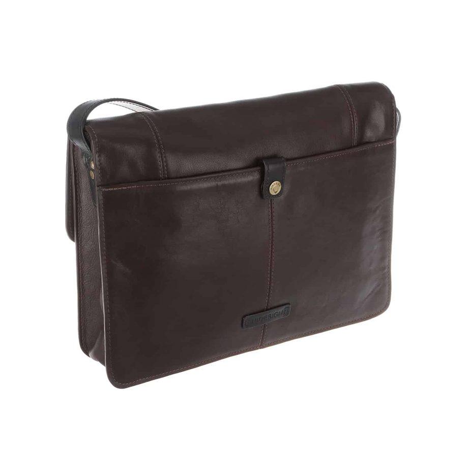 back of brown and black arad bag