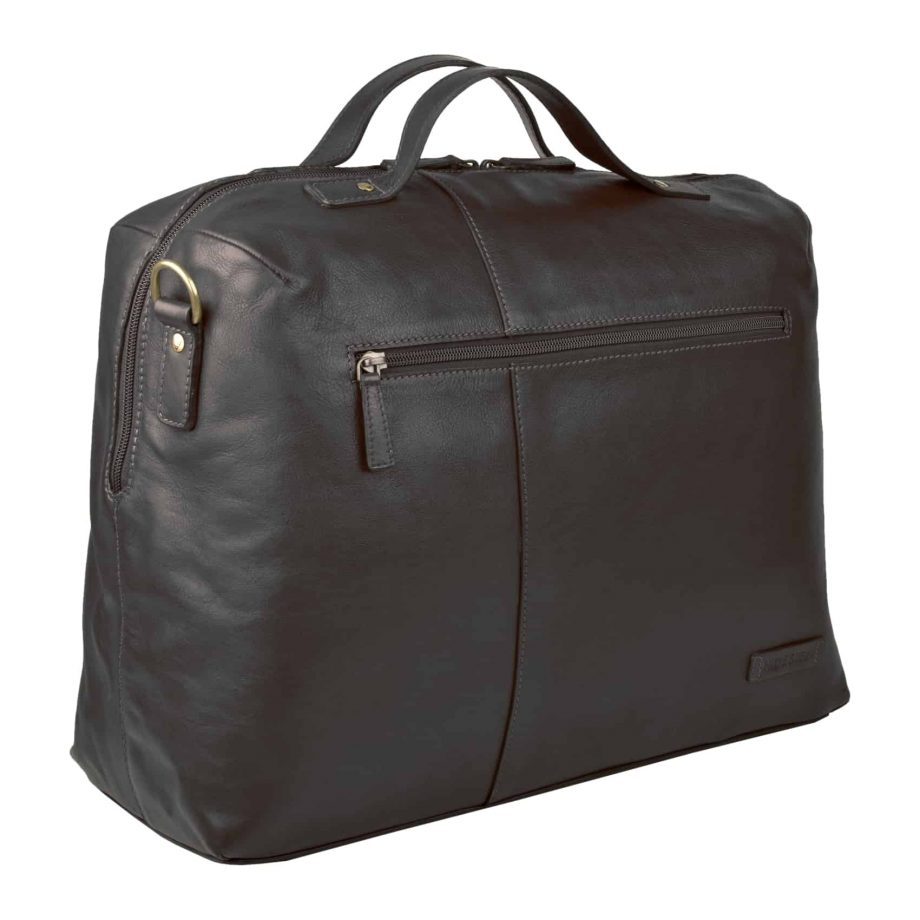 A 3-4 View of Black Fitch 03 Holdall Bag