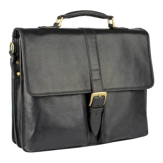 angled view of aberdeen black bag