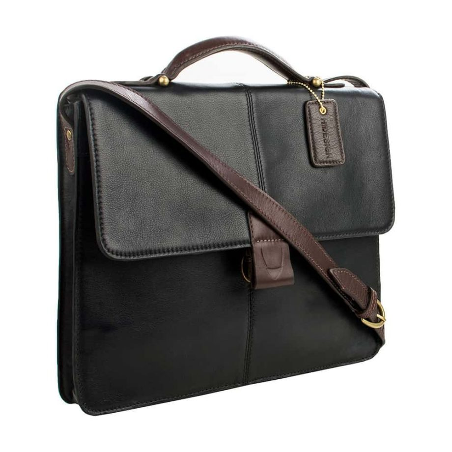 closed arad bag black and brown with strap