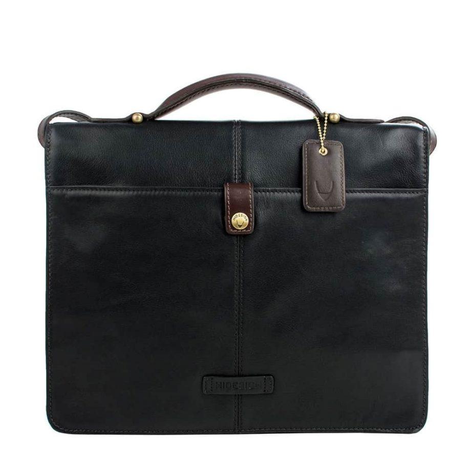 back of black brown arad bag