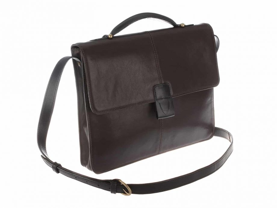 arad brown black bag with strap