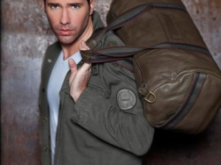 mens leather travel gym holdall bag