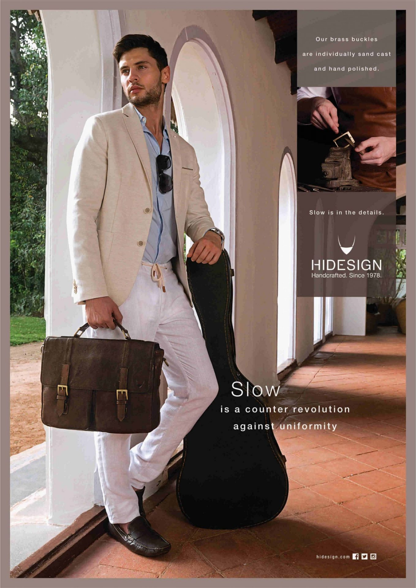 mens brown leather briefcase bag belt magazine