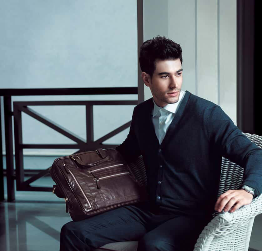 quality brown leather bag mens