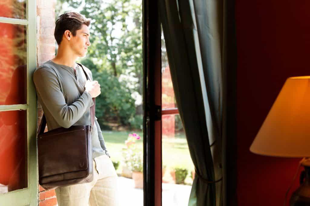 brown leather dispatch city bag strap fashion