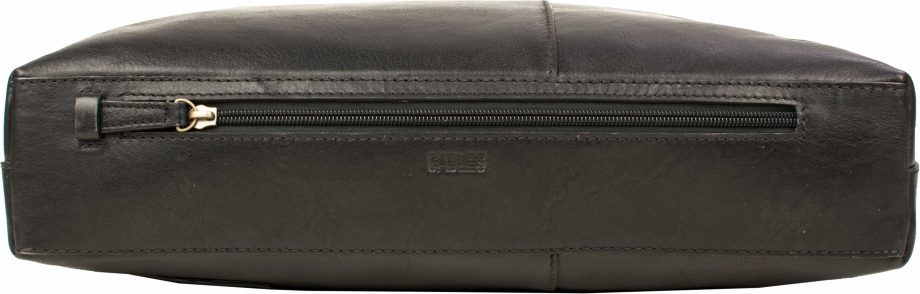 zip on black fitch bag