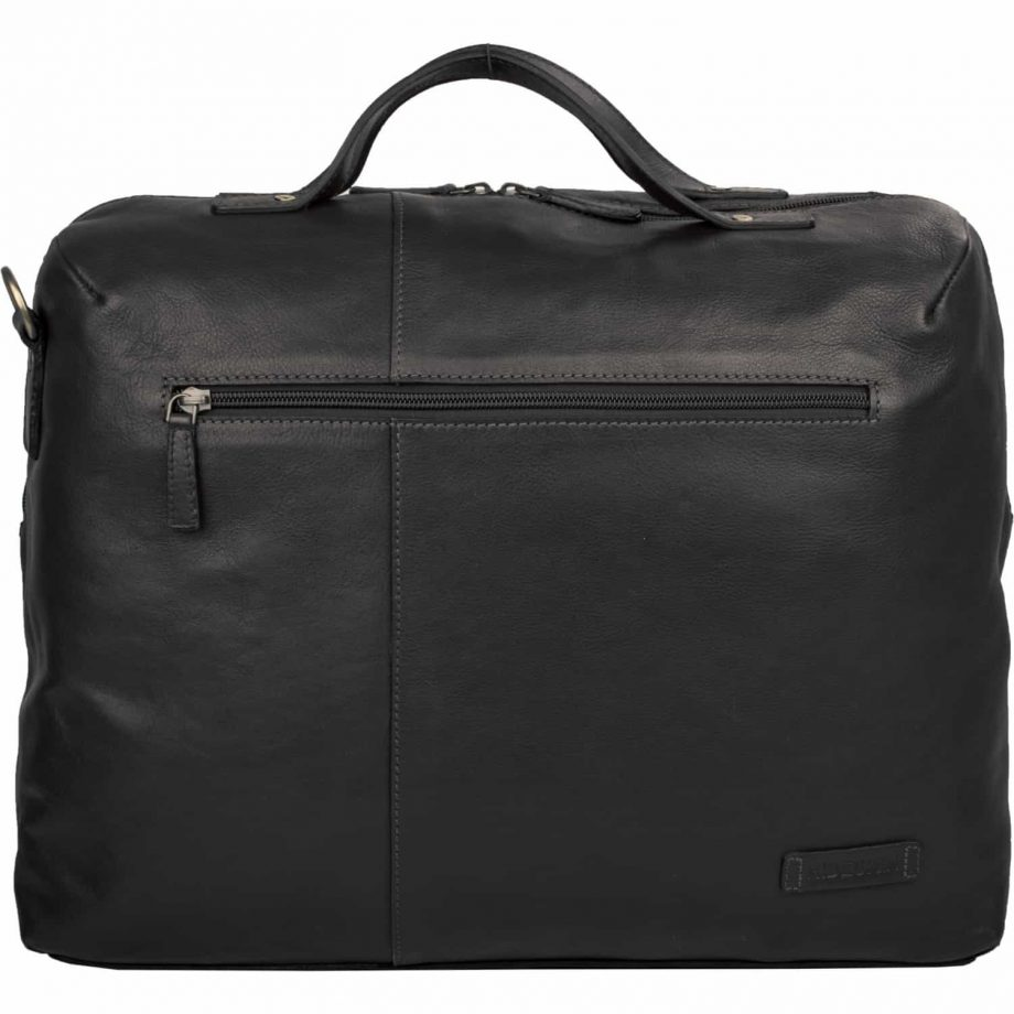 black leather fitch bag with strip