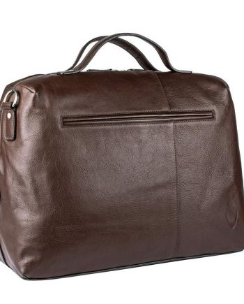 3-4 view without the strap of Fitch 03 brown leather holdall bag