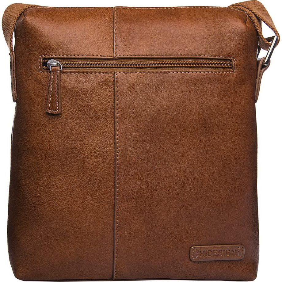 tan fitch bag with zip