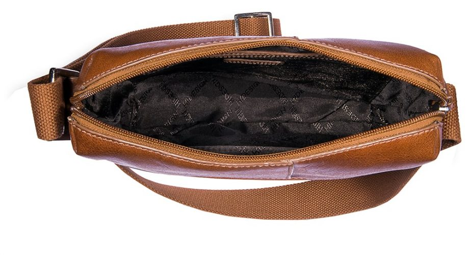 inside view of tan fitch bag