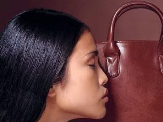 womens model carrier handbag brown leather