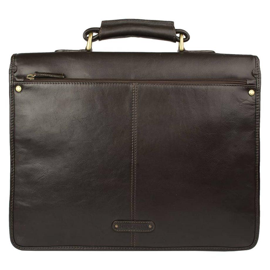 back of brown hugo bag