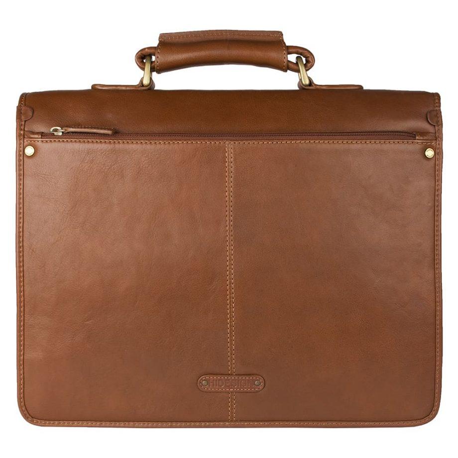 back hugo tan leather bag
