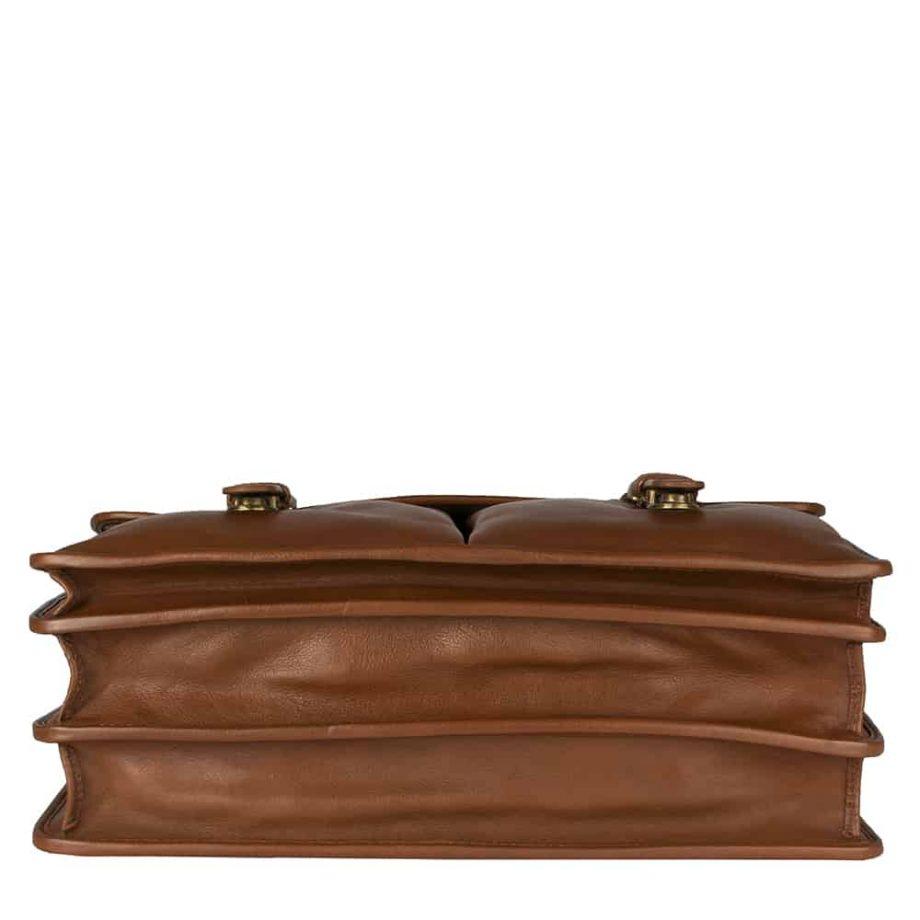 underside of hugo tan bag