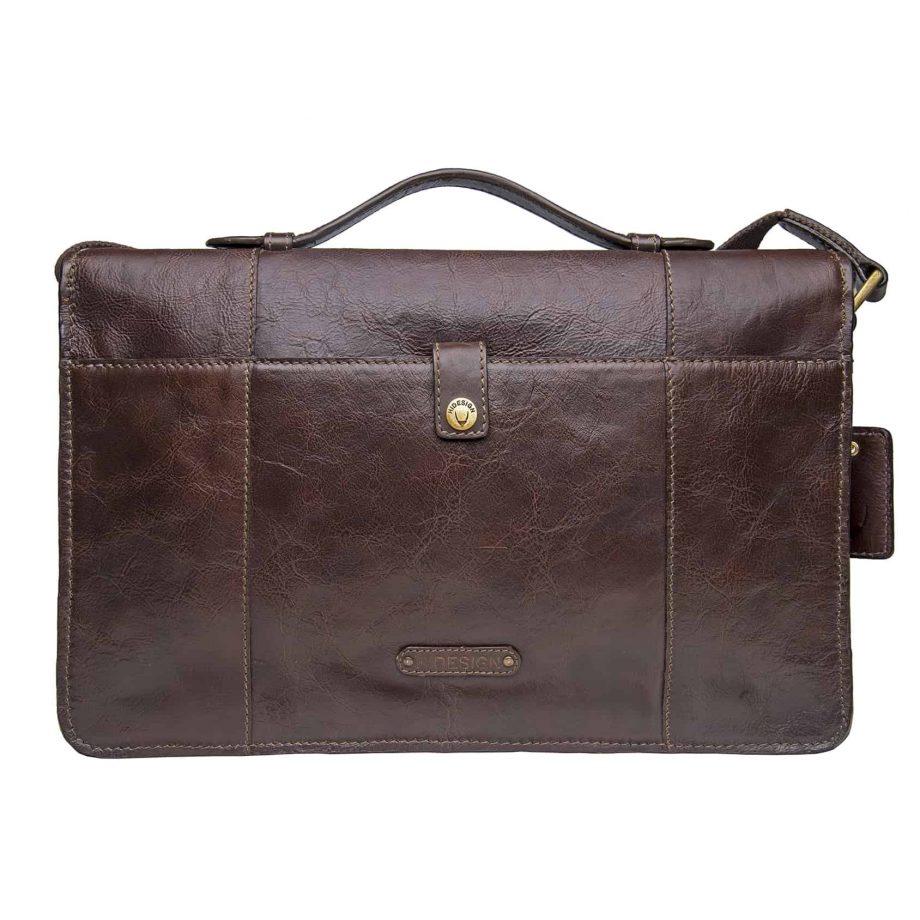 back view of brown maverick bag