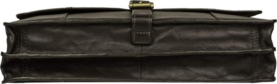 underside of brown maverick bag