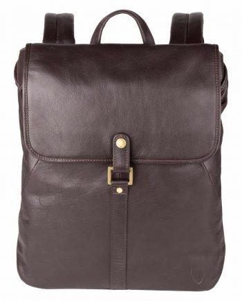 Stylish handcrafted brown leather backpack for men.