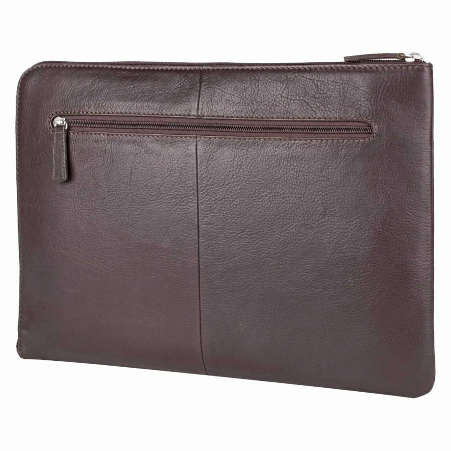 eastwood classic brown leather tablet folio, front view
