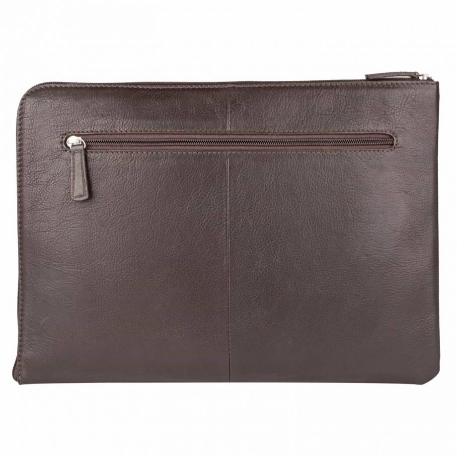 front view eastwood classic brown leather tablet folio