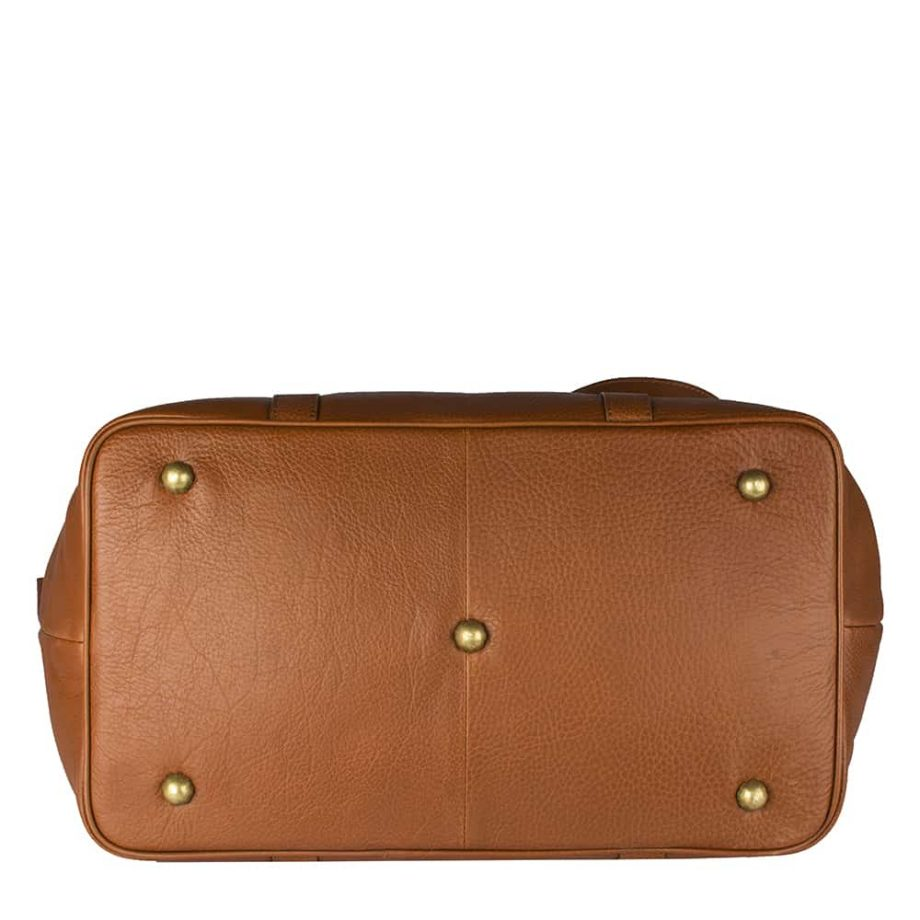 base of small roberto holdall, made from soweto leather in tan